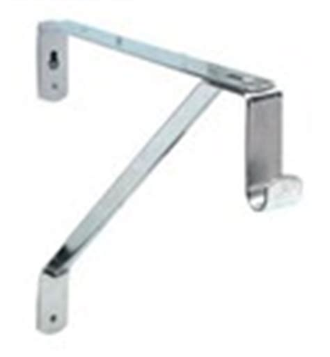 Oval Closet Rod Bracket by Custom Sized Oval Closet Rod Chrome In Closet Rods And