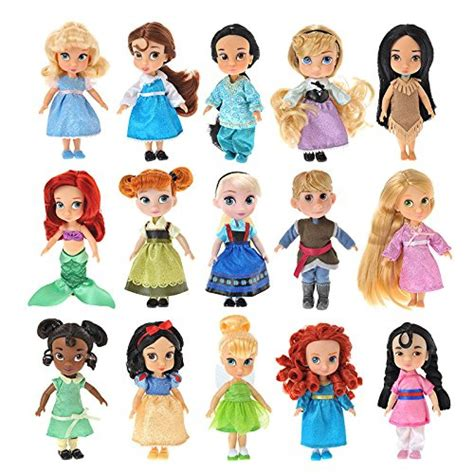 disney store animator collection mini doll set of 15