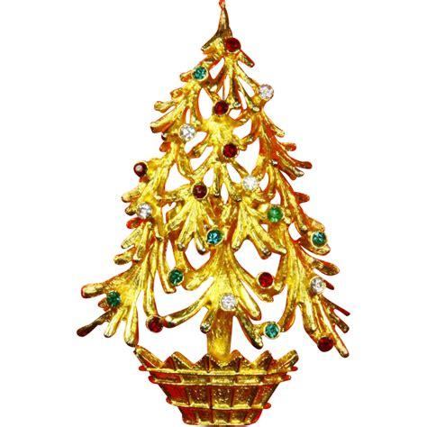 mylu christmas tree pin 60s