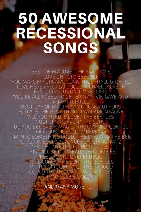 Wedding Ceremony Exit Songs by Best 25 Wedding Recessional Ideas On Wedding