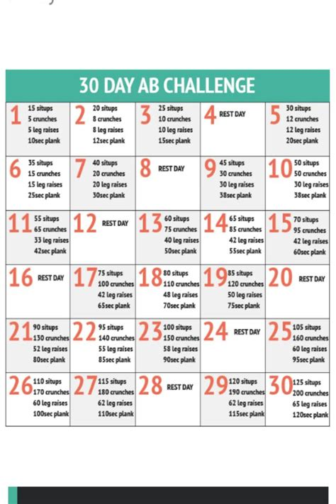 great 30 day ab workout routine excercise fitness