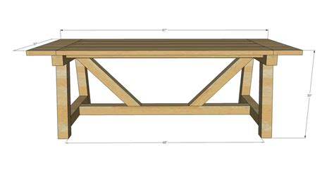 ana white  truss beam table diy projects