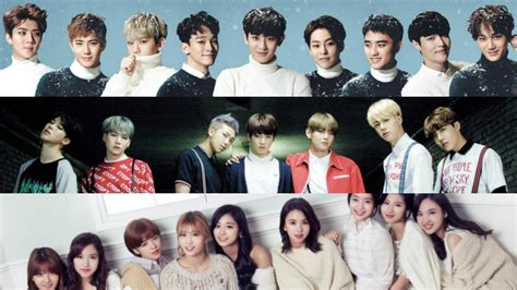 exo or bts exo bts twice got7 shinee taeyeon and many more