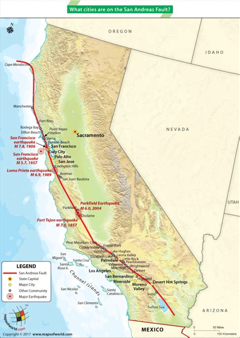 san andreas fault line map san andreas fault line forms the boundary between american tectonic plate and the pacific