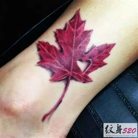 quebec flag tattoo 火红的枫叶纹身图案