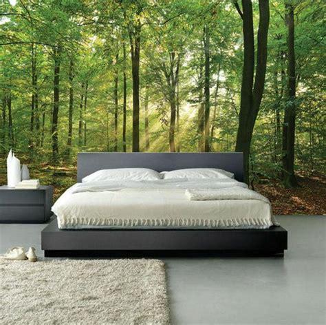 Tapete Hinter Bett by Fototapete Wald Schlafzimmer Olegoff