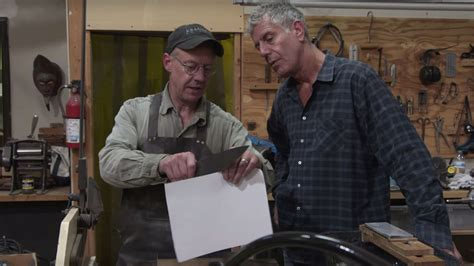anthony bourdain knife watch anthony bourdain forge a knife out of meteorites eater
