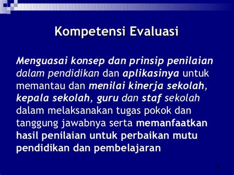 Evaluasi Pembelajaran Prinsip Teknik Dan Prosedur 4 permendiknas 12 tahun 2007 18022008