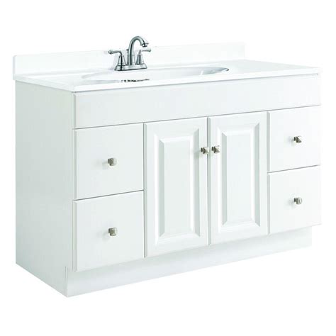 Home Depot Bathroom Vanities 48 Design House Wyndham 48 In W X 21 In D Unassembled Vanity Cabinet Only In White Semi Gloss