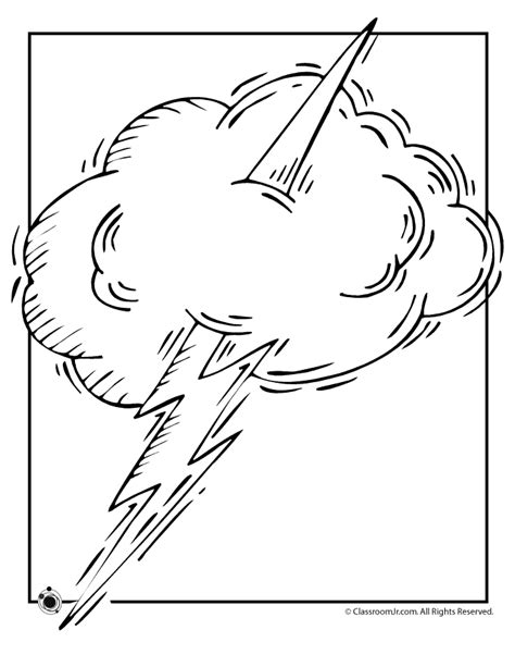 free coloring pages of weather