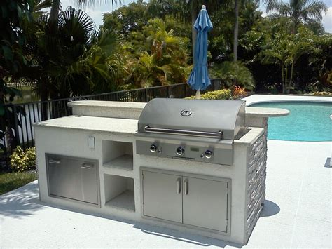 kitchen island grill custom built in barbecue native home garden design