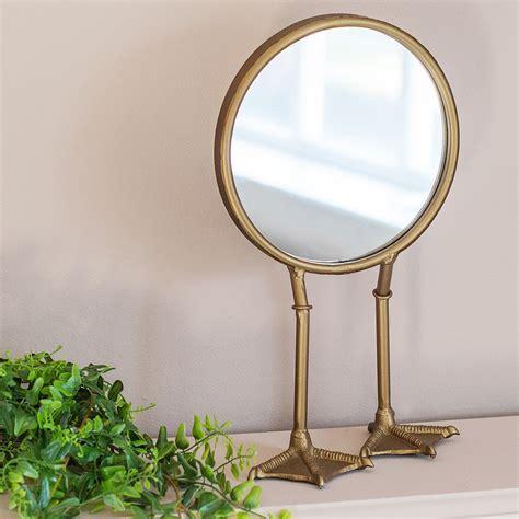 bronze duck standing vanity mirror audenza