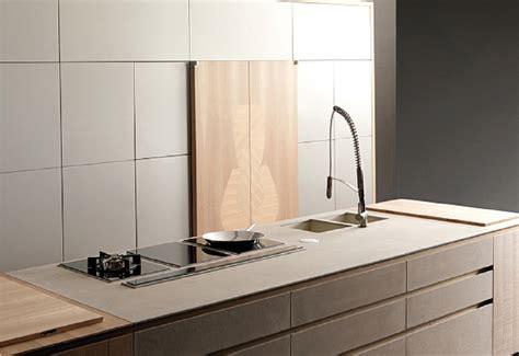 Concrete And Wood Kitchen by Cucine Italiane Italian Kitchens