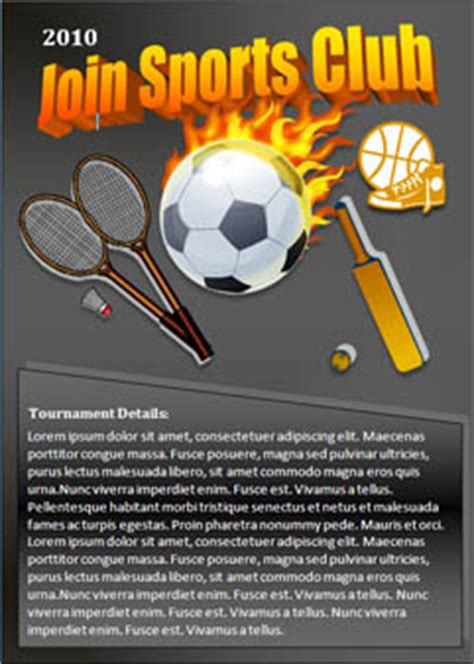 templates for sports flyers free sports flyers