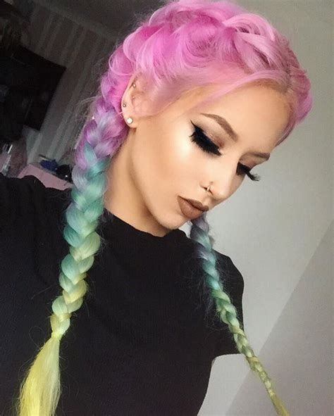 pastel colored hair best 25 alternative hairstyles ideas on