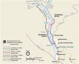 map of muir woods california muir woods trail map muir woods national monument