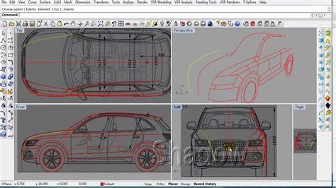 tutorial video rhino vsr shape modeling for rhino tutorial of audi q5 part01