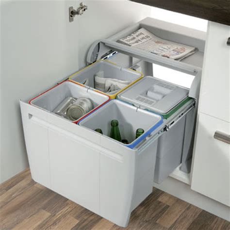 Kitchen Recycling Bins For Cabinets Hafele 60cm City Pull Out Waste Bin 4x 12 Litre Kitchen Recycling