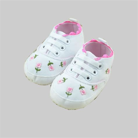 flower toddler shoes embroidery flower newborn baby shoes soft sole