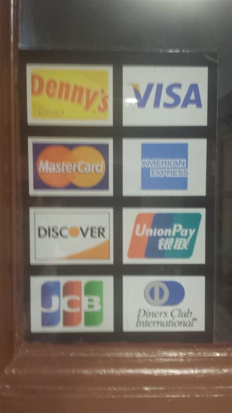 Add Address To American Express Gift Card - many cards are accepted denny s visa mastercard american express discover union