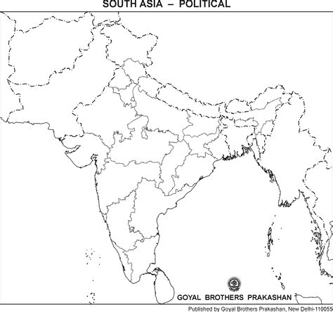 Outline Map Of Indian Subcontinent by Blank Outline Maps Of Indian Subcontinent