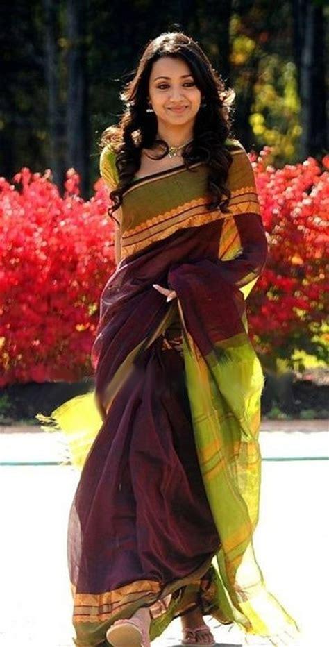 trisha hair in vtv trisha vtv saree celebrity sarees
