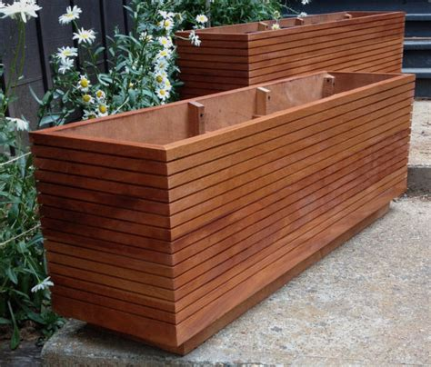 tall modern mahogany planter boxes mid century modern free