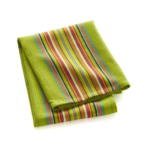 dish towels salsa dos green dish towel crate and barrel
