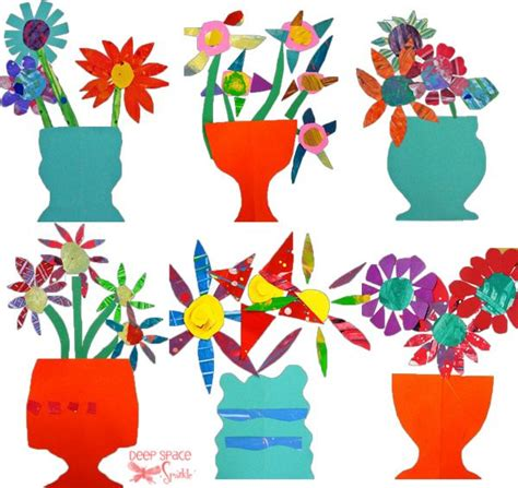Paper Cutting And Pasting Crafts - paper cut flower project flower and