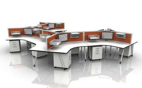 attractive modular office furniture photo of study room