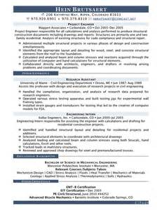 Structural Engineer Resume by Resume Brutsaert Structural Engineering