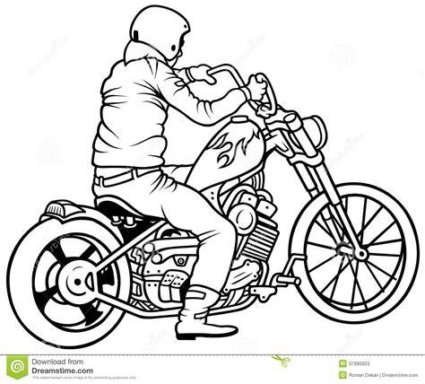 Motorrad Transport Mit Fahrer by Motorrad Und Fahrer Vektor Abbildung Illustration Von