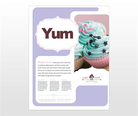 free bakery flyer templates 625px