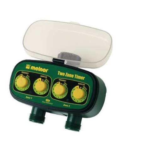 melnor 2 zone water timer discontinued 3100v the home depot