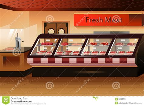 meat section in grocery store grocery store meat section stock image image 38503221
