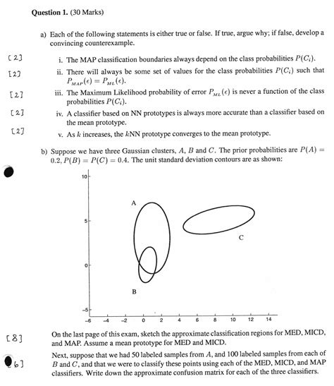 pattern recognition questions and answers sd372 pattern recognition winter 2003