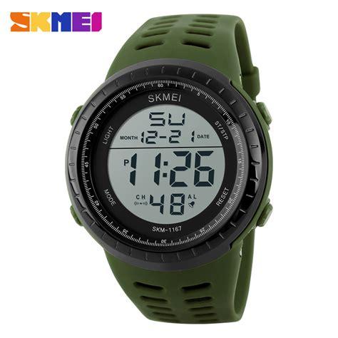 Jam Tangan Digital Pria Skmei Dg1068 Army Green skmei jam tangan digital pria 1167 army green