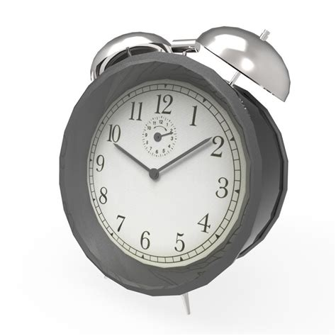 alarm clock 3d model ready fbx ma mb cgtrader