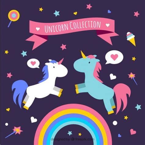imagenes de unicornios morados unic 243 rnios no amor com elementos baixar vetores gr 225 tis