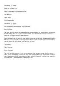 Appointment Reminder Letter Template Medical Appointment Reminder Letter