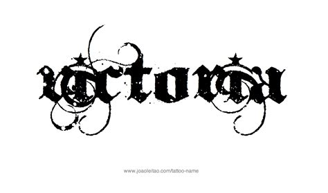 victorian design tattoo name designs