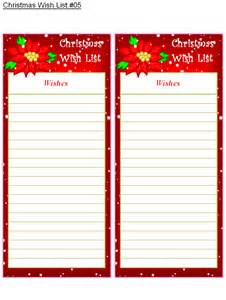 wish list template search results for blank wish list santa