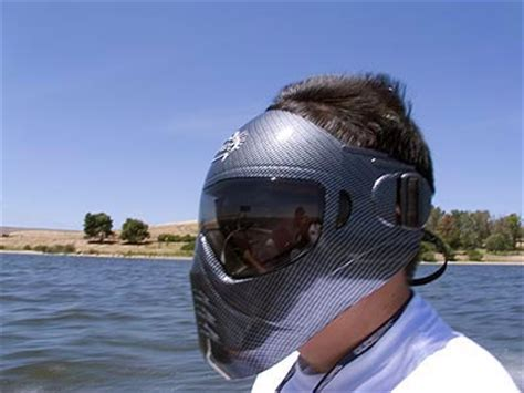 fish hedz review save phace fishing mask boating helmet - Bass Boat Face Shield