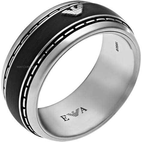 s emporio armani stainless steel size w 5 ring