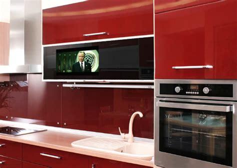 integrated cabinet door tv by luxurite