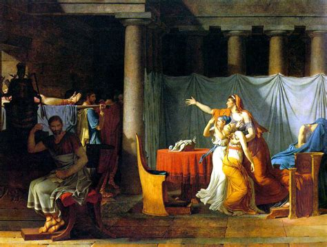 L Painting by The Lictors Bring To Brutus The Bodies Of His Sons