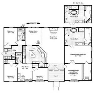 floorplan or floor plan the hacienda ii vr41664a manufactured home floor plan or