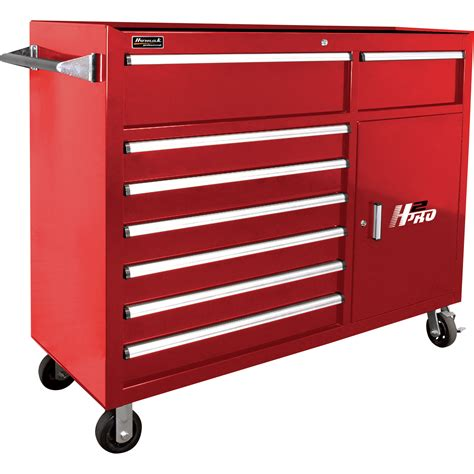 tool chest end cabinet homak h2pro 56in 8 drawer roller tool cabinet with 2