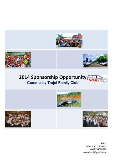membuat proposal gathering sponsorship proposal trajet family club 2014