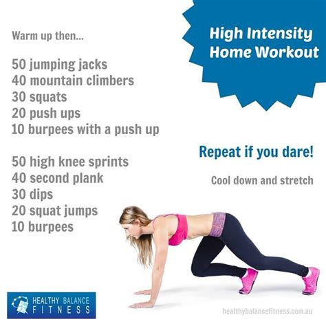 high intensity home workout work it